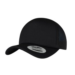 Flexfit - 6005FC - Foam Trucker Cap Curved Visor - black...