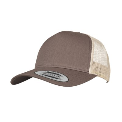 Flexfit - 6506T - 5-Panel Retro Trucker 2-Tone Cap - brown / khaki