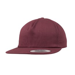 6502 - Unstructured 5-Panel Snapback - maroon