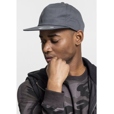 6502 - Unstructured 5-Panel Snapback - charcoal