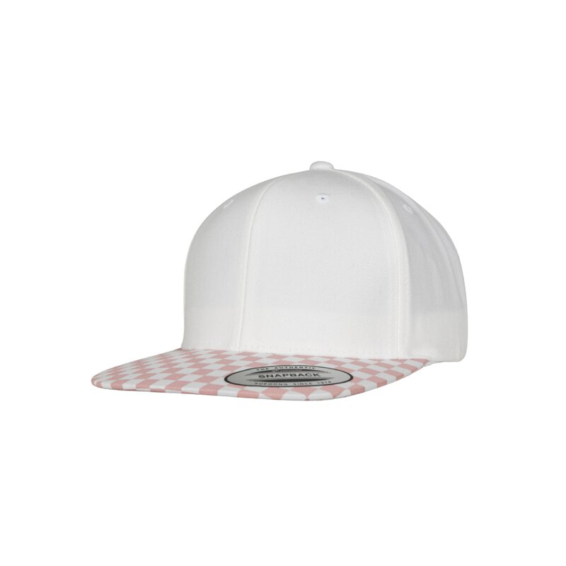 Flexfit - 6089CB - Checkerboard Snapback - lightrose / white
