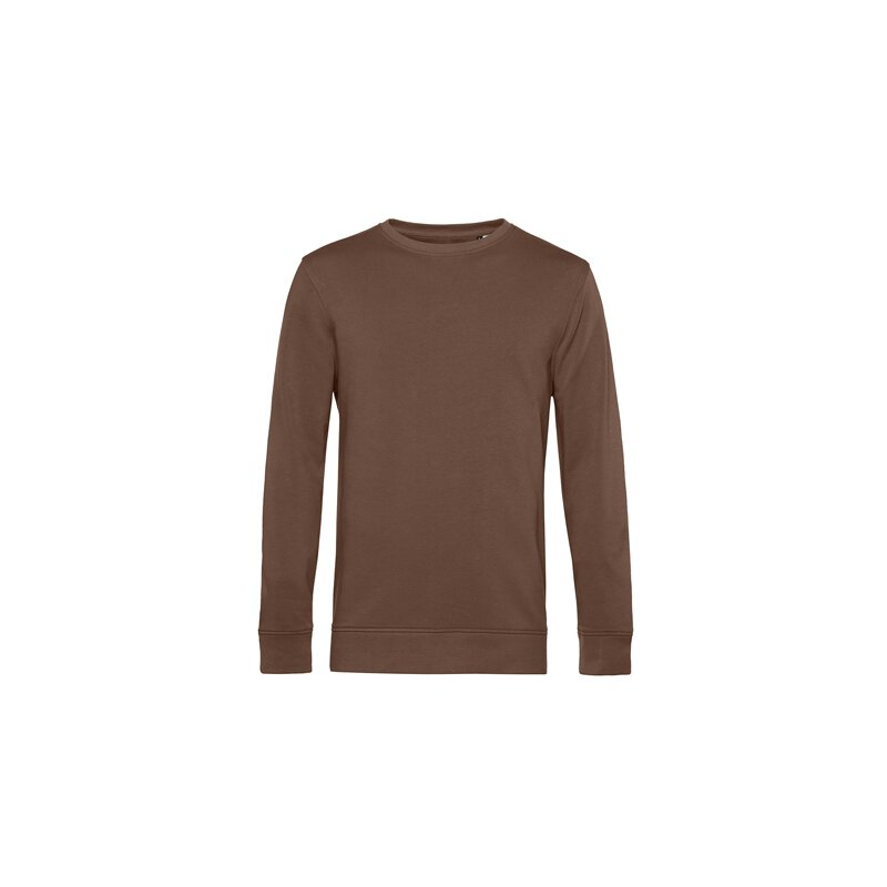 B&C - Organic Crew Neck French Terry ( WU31B) - mocca...