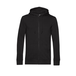 B&C - Organic Zip Hooded Kapuzenjacke ( WU35B) - black