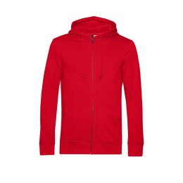 B&C - Organic Zip Hooded Kapuzenjacke ( WU35B) - red