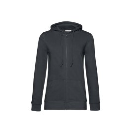 B&C - Organic Zipped Hooded Women (WW36B) - asphalt...