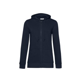 B&C - Organic Zipped Hooded Women (WW36B) - navy