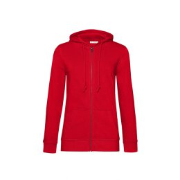 B&C - Organic Zipped Hooded Women (WW36B) - red