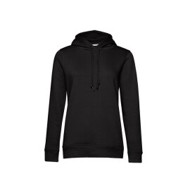 B&C - Organic Hooded Women Kapuzenpullover (WW34B) - black