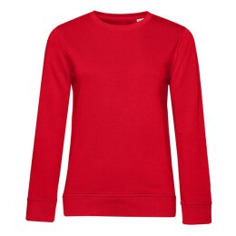 B&C -  Organic Crew Neck French Terry  Women (WW32B) - red