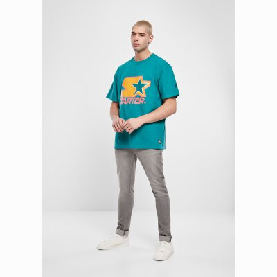 Starter - Colored Logo (ST026) - Tee - green/yellow/rose