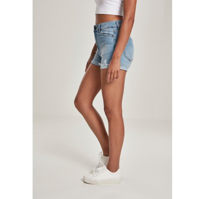 Urban Classics - TB3452 - Ladies 5 Pocket Shorts - light authentic blue washed