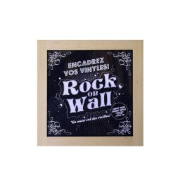 Rock On Wall - LP Holzrahmen - Buche