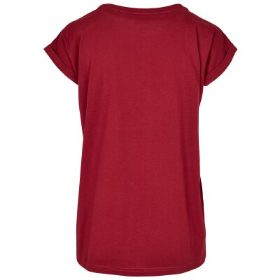 Urban Classics - TB2983 - Ladies Organic Extended Shoulder Tee - burgundy
