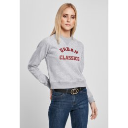 Urban Classics - TB3780 - Ladies Short college crew - grey