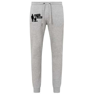 Kidnap Music - Stay Home - Jogging Hose / Jogger Pant - heather grey XXL