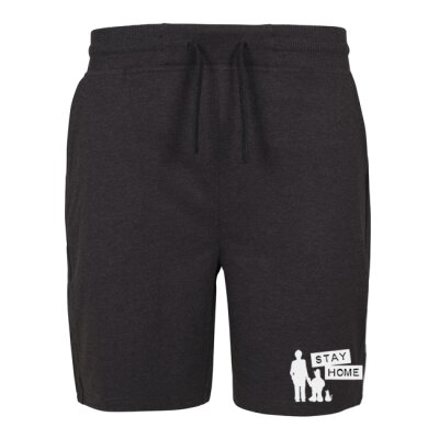 Kidnap Music - Stay Home - Kurze Hose / Sweat Shorts - charcoal