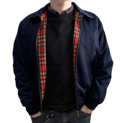 Harrington-Style Jacke - navy