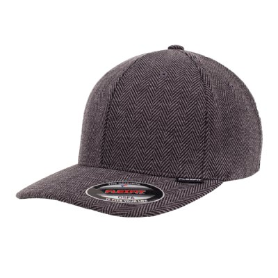 Flexfit - Heringbone Melange - Baseball Cap - black/heather grey