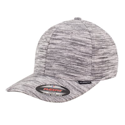 Flexfit - Stripes Melange - Baseball Cap - black/heather grey