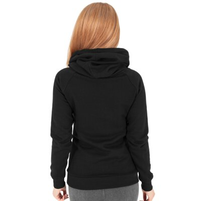 Urban Classics - TB1076 Ladies Raglan High Neck Hoody - black