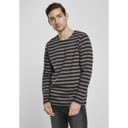 URBAN CLASSICS - TB 3801 - Regular Stripe LS - asphalt/black