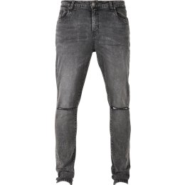 Urban Classics - TB3076 Slim Fit Jeans - black washed