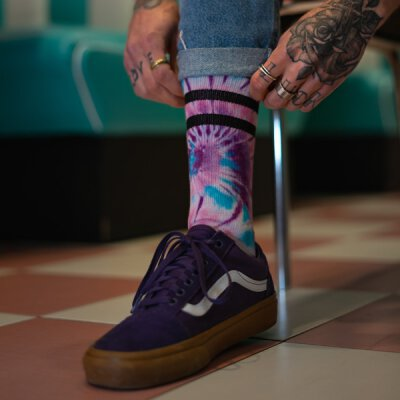 American Socks - Tie Dye Tripping - Socken - Mid High