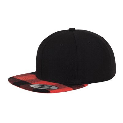 Flexfit/Yupoong - Checked Flanell Peak - Snapback - black/red