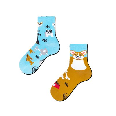 Many Mornings Socks - Playful Dog - Kids Socken