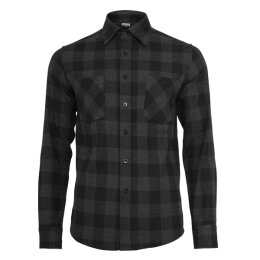 Urban Classics - TB297 Checked Shirt - charcoal/black