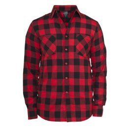 Urban Classics - TB297 Checked Shirt - red/black
