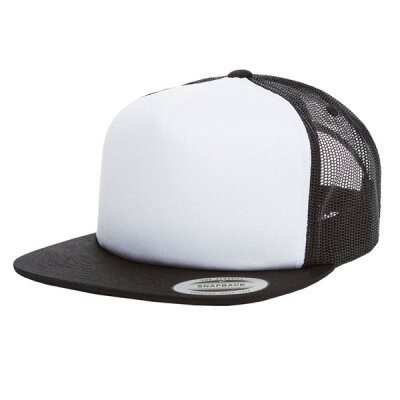 Flexfit/Yupoong - Foam Trucker with White Front - 6005FW- black/white/black