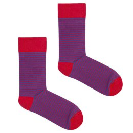 Kabak - Socken - Classic Stripes - Red + Blue