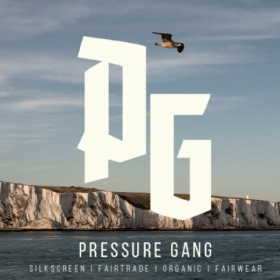 Pressure Gang - Pattern - T-Shirt - grey melange