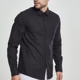 Urban Classics - TB297 Checked Shirt - black/black