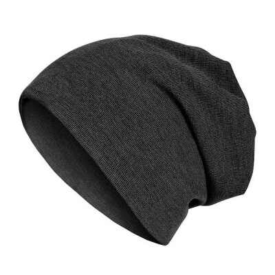 MSTRDS - 2 in 1 Rib Beanie - heather charcoal