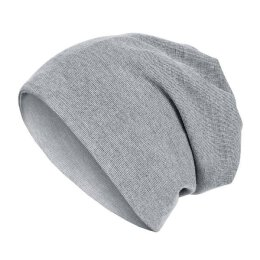 MSTRDS - 2 in 1 Rib Beanie - heather grey