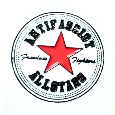 Antifascist Allstars - roter Stern - Pin