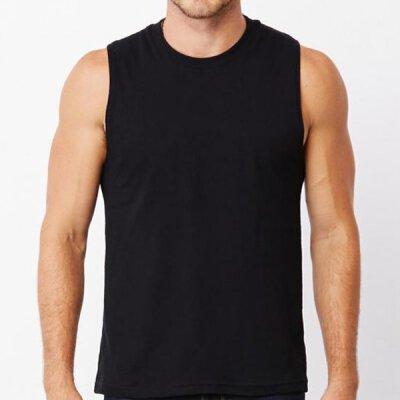 Bella + Canvas - Mens Jersey Muscle Tank Top - black