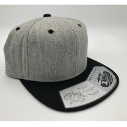 Flexfit - 110 Fitted Snapback - black/ grey heather