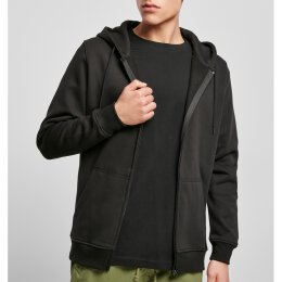 Build Your Brand - Heavy Zip Hoody (BY012) - black /...