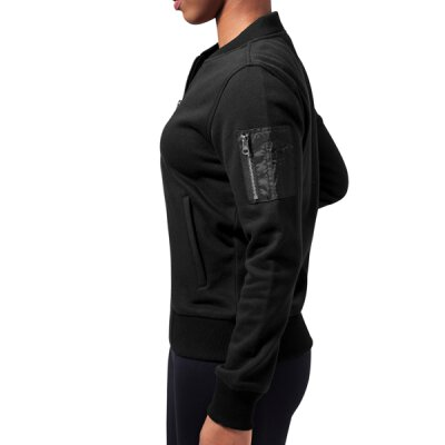 Urban Classics - TB1317 Ladies Sweat Bomber Jacket - black - M