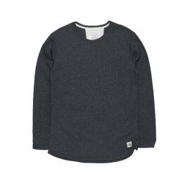 Cleptomanicx - Mesher - Thermal Longsleeve - heather black