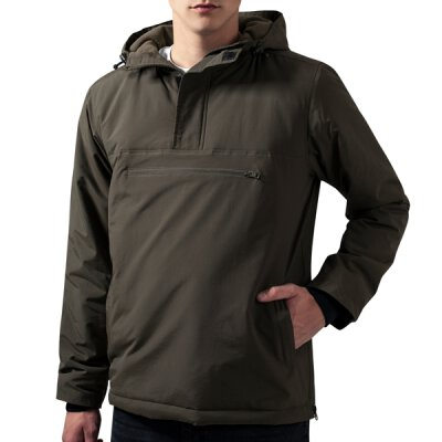 Urban Classics - TB1443 Padded Pull Over Jacket - olive