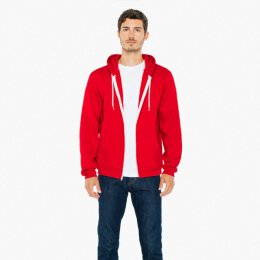 American Apparel - F497W - Kapuzenzipper - red