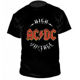 AC/DC - High Voltage - Logo - Shirt - black