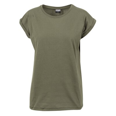 Urban Classics - TB771 - Ladies Extended Shoulder Tee - olive