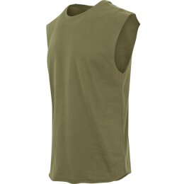 Urban Classics - TB1562 - Open Edge Sleeveless Tee - olive