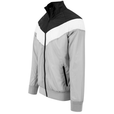 Urban Classics - TB1615 - Arrow Zip Jacket - lightgrey/black/white
