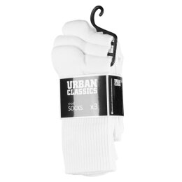 Urban Classics - TB1471 - Sport Socks 3-Pack - white